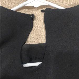 Dresses - Black semi sheer swing dress hi-low